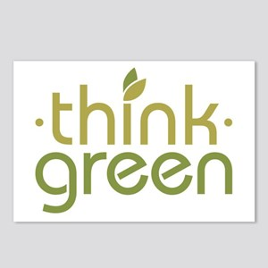 Think Green [text] Postcards (Package of 8)